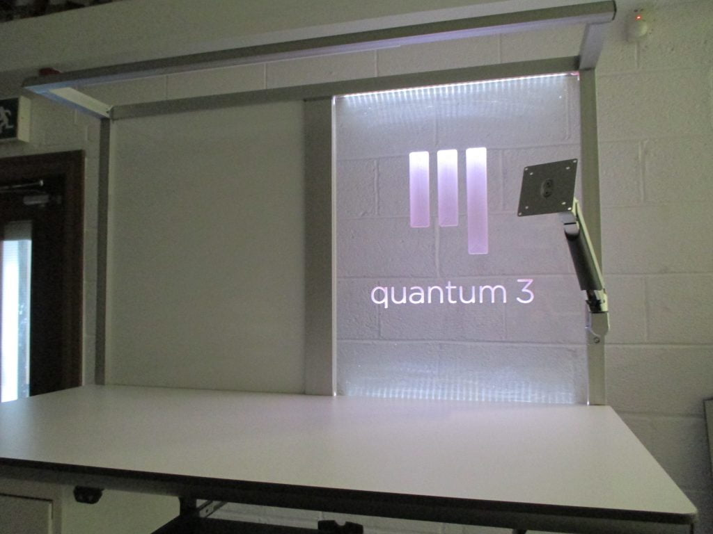 Custom led clear panel with Quantum 3 brand name
