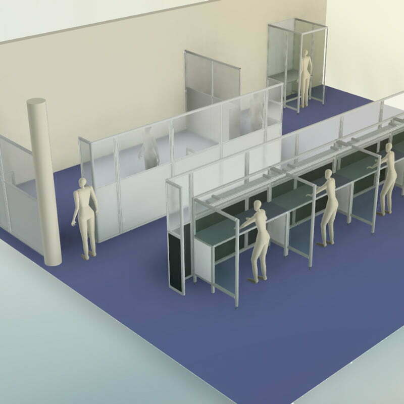 Workplace separation solutions - room divider